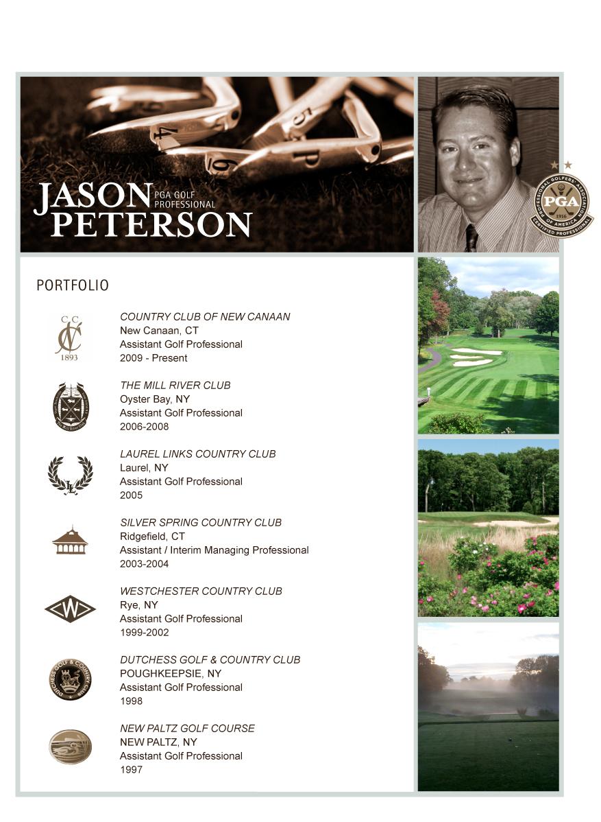 Jason Peterson Pga Golf Professional Courses
